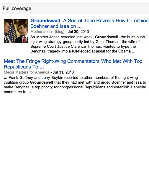 Groundswell on Google