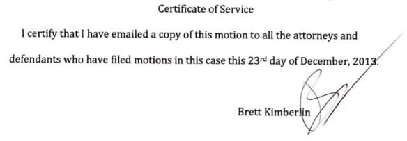 BK RICO Extension Motion cert