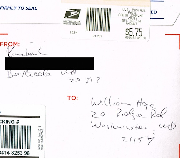 OO Mailing Label