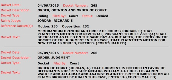 Qapla': #BrettKimberlin's Motion for a New Trial Denied