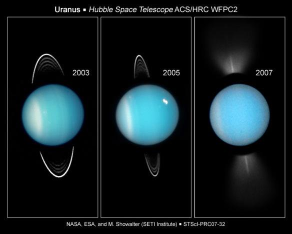 Uranus w rings