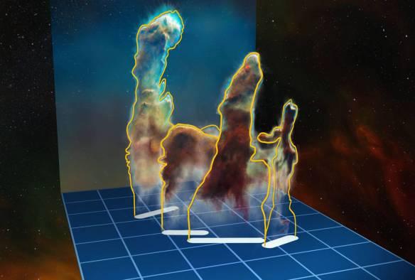 3D data visualisation of the Pillars of Creation