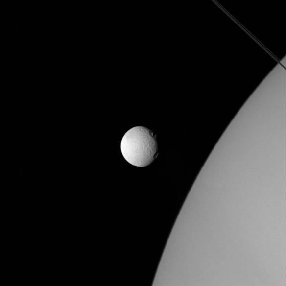 Tethys and Saturn