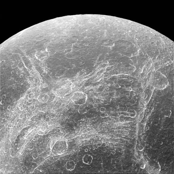Dione chasms