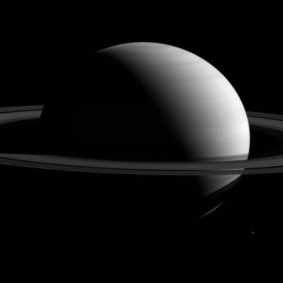 Saturn & Tethys