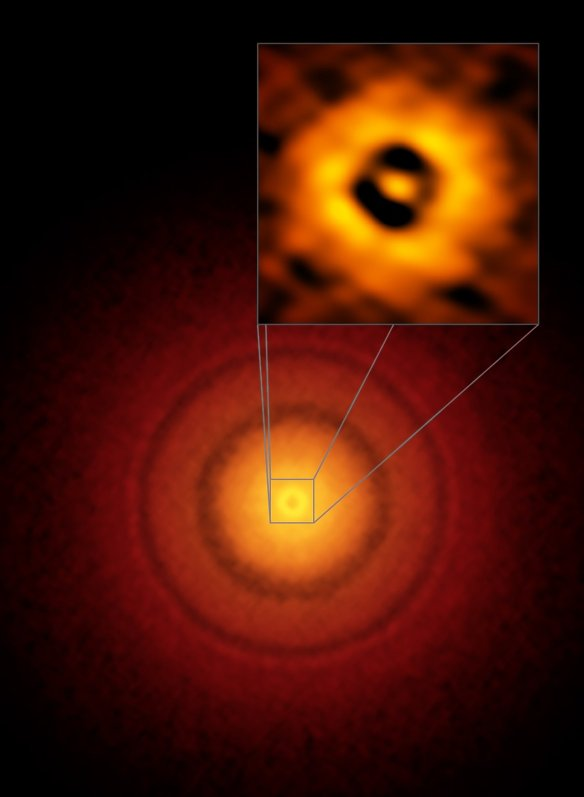 ALMA image of the planet-forming disc around the young, Sun-like