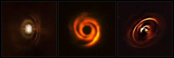 Protoplanetary discs observed with SPHERE